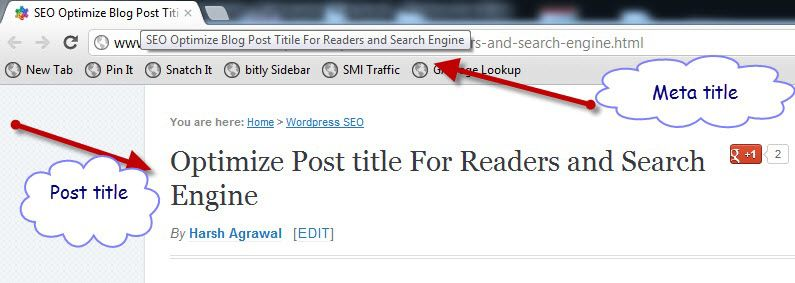 meta title vs Post title Optimize Post title For Readers and Search Engine