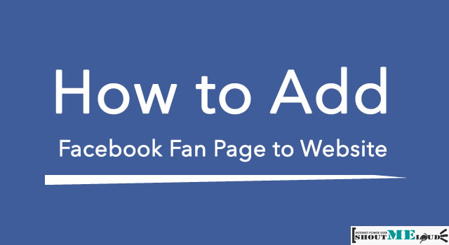 How to Add Facebook Fan Page to Website