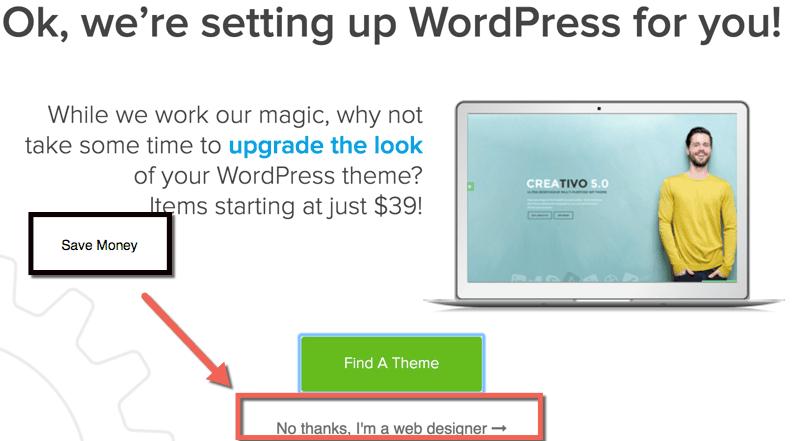 HostGator UPselling WordPress theme