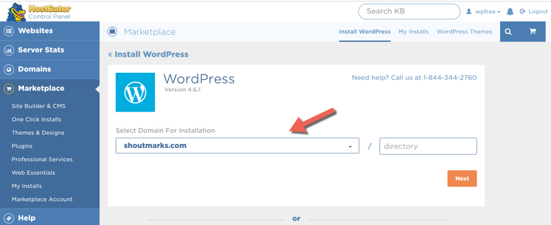 uninstall wordpress from website