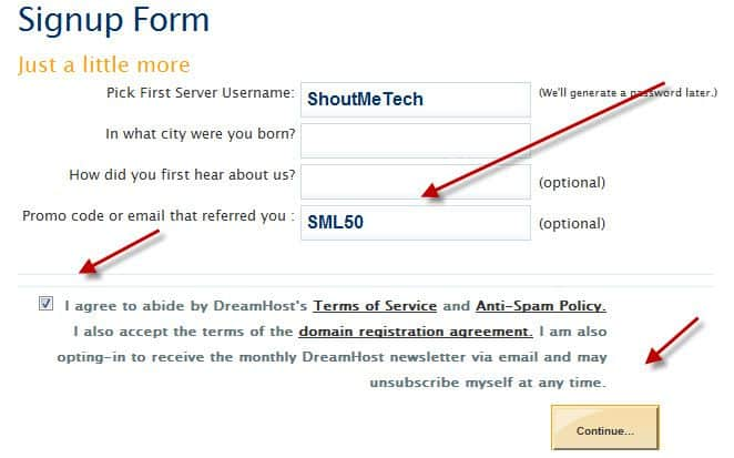 Promo code Trial account How to Sign up for Dreamhost Free Trial Hosting Account