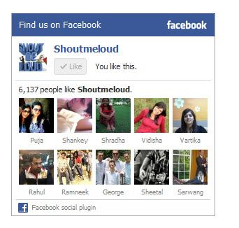 ShoutMeLoud Fb Page Widget
