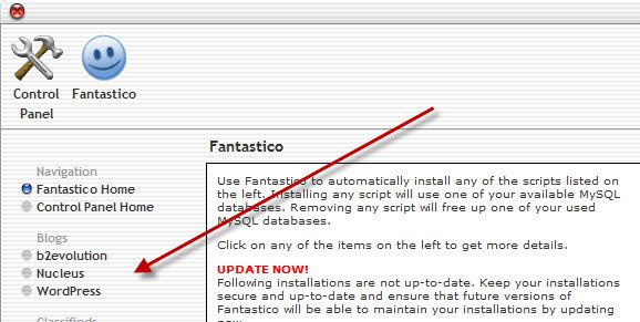 WordPress installation fantastico How to Install WordPress on Hostgator