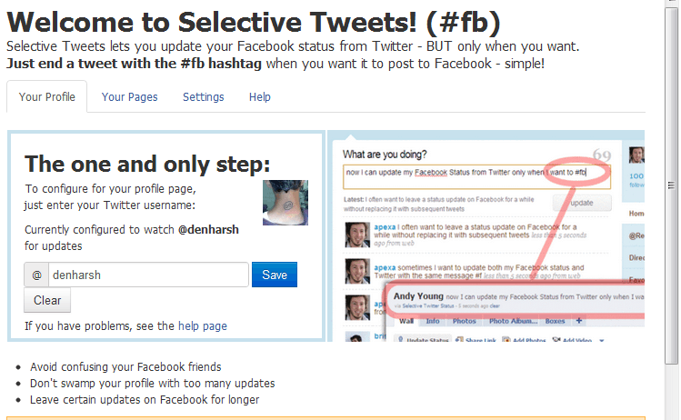 selective Tweets How to show your Twitter Tweets On Facebook Profile
