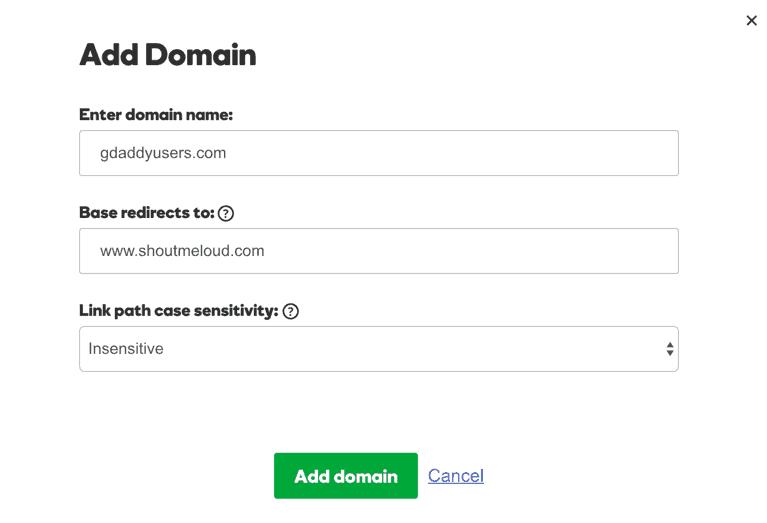 Make URL Shortener using your domain