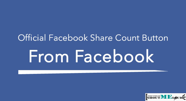Official Facebook Share Count Button
