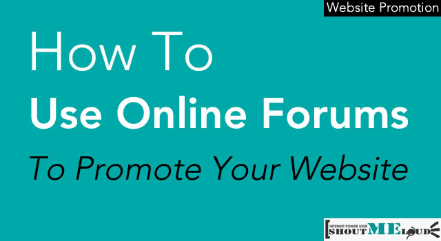 Promote website on forum