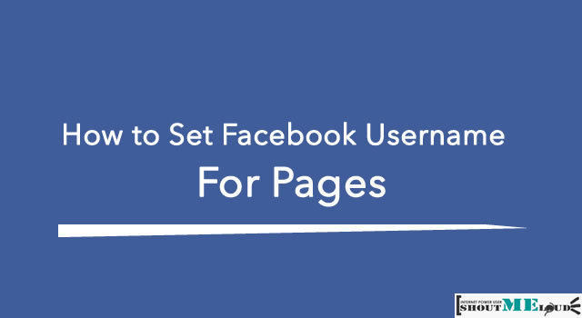 Set Facebook Page Username