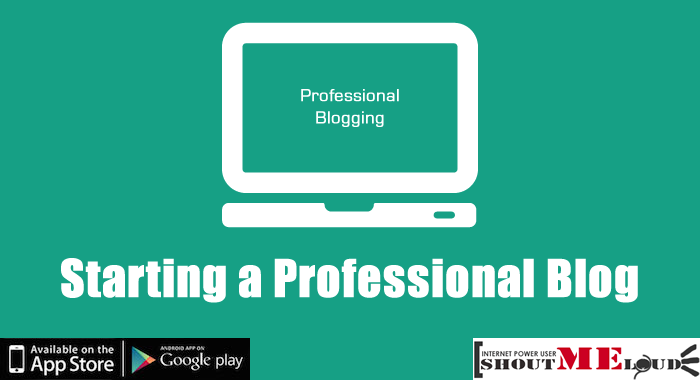 Starting a Professional Blog