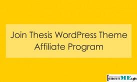 Join Thesis WordPress Theme Affiliate Program