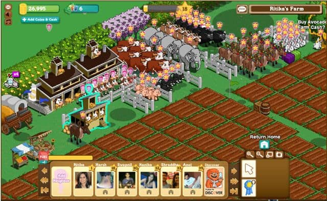 FarmVille game on Facebook FarmVille game on Facebook: Real time Farm Simulation Game