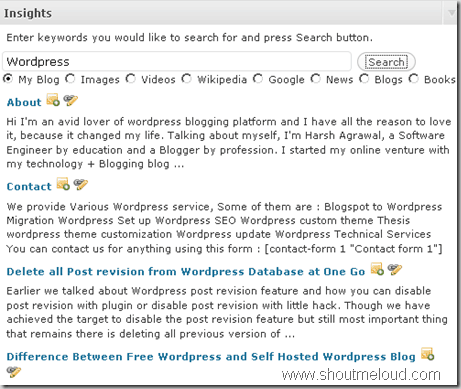Wordpress Insight plugin