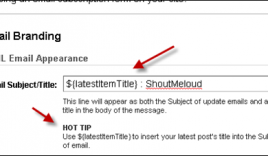Change Feedburner Email Subject Title to Make it more Effective