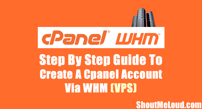 Create A Cpanel Account Via WHM