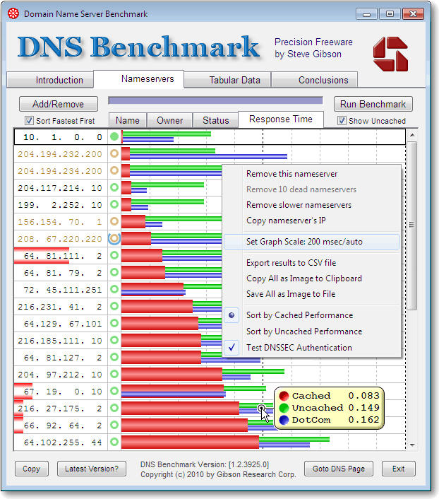DNS Benchmark DNS Benchmark : Find The Fastest DNS