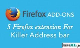 5 Firefox extension for Killer Address bar