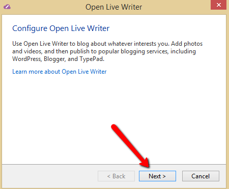 Configure Open Live Writer