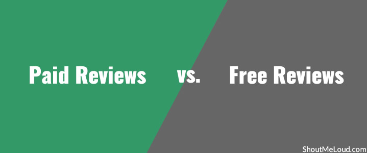 Paid Reviews vs. Free Reviews