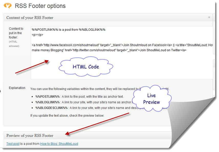 RSS Footer WordPress Plugin LinkBack to Article In Feeds with RSS Footer WordPress Plugin