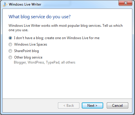 windows live writer blog service How to Configure Window Live Writer for WordPress blogs