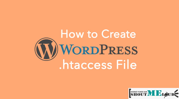 Create WordPress htaccess File