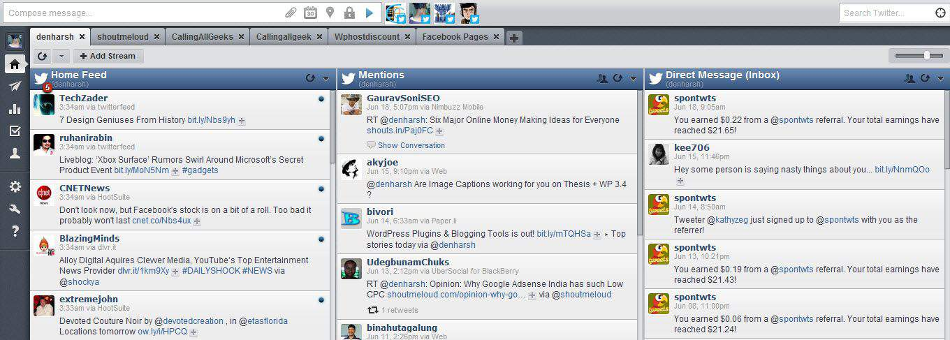 Hootsuite review HootSuite Review : Ultimate Twitter Web Client