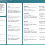 15 Best WordPress Cheat Sheet For Designers And Developers