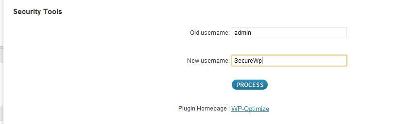 Wp optimize Settings How To Change Wordpress Default Username For Security