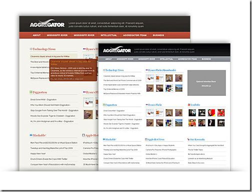 Aggregator WordPress Free Theme : Create  News Aggregation Site