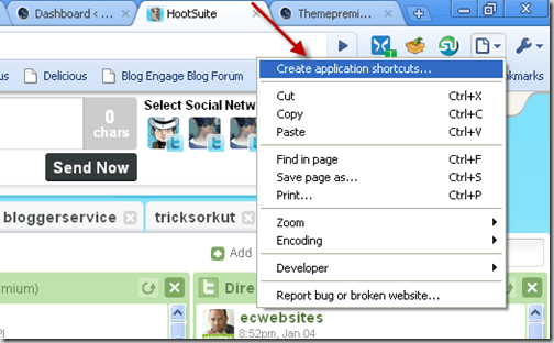 hootsuite application shortcut thumb
