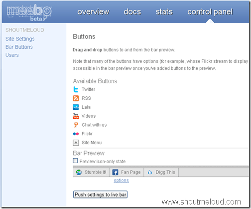 Meebo Toolbar for Blogs and Websites