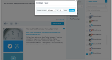 Why Should You Tweet your Post Multiple Times?