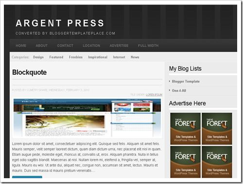 ArgentPressBloggerTemplate thumb 30+ Best Magazine Style Blogger Templates of 2010
