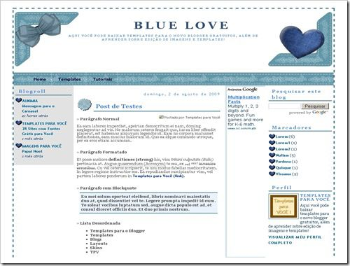 Blue Love Blogger Template