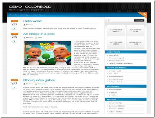 ColorboldBloggerTemplate thumb 30+ Best Magazine Style Blogger Templates of 2010