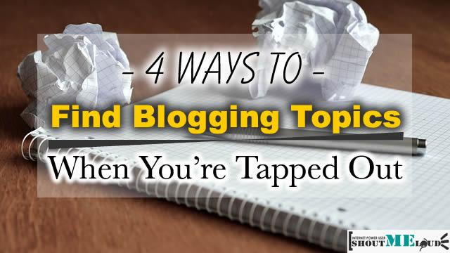 Find Blogging Topics