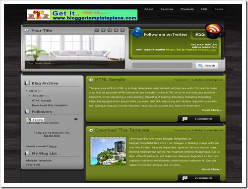 GreenHarmonyBloggerTemplate thumb 30+ Best Magazine Style Blogger Templates of 2010
