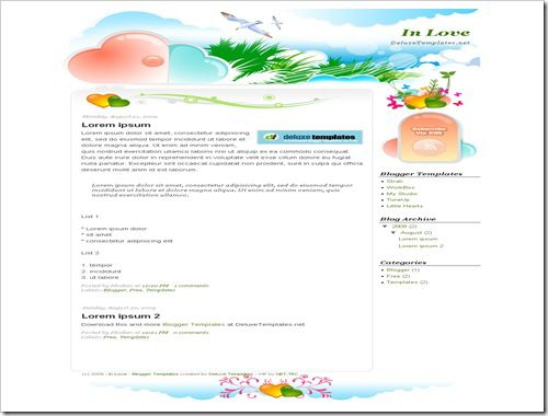 InLoveBloggerTemplate thumb