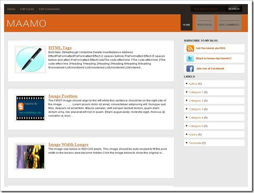 Maamo Blogger Template