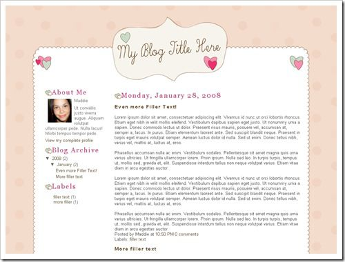 Quirky Valentine Blogger Template