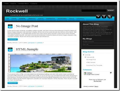 RockwellBloggerTemplate thumb 30+ Best Magazine Style Blogger Templates of 2010