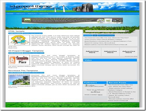SDProper4BloggerTemplate thumb