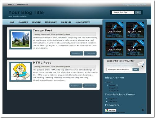 TutorialiciousBloggerTemplate thumb 30+ Best Magazine Style Blogger Templates of 2010