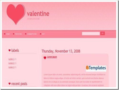 Valentine Blogger Template