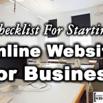 Checklist For Starting Online Website For Business