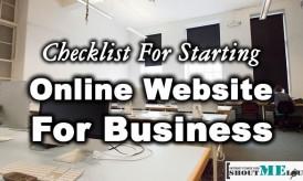 Checklist For Starting Online Website For Business