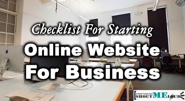 Checklist For Starting An Online Website For Business
