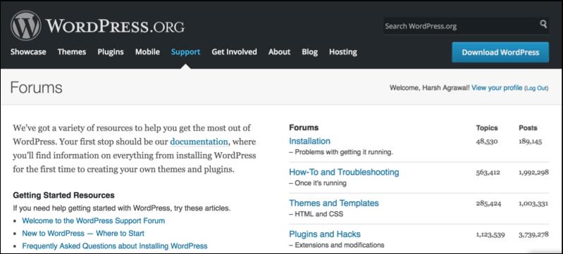 WordPress forum
