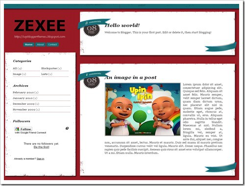 Zexee Blogger Template
