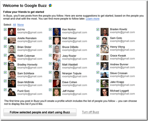 google buzz auto follow thumb